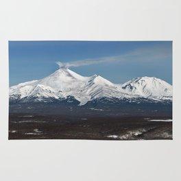 Avachinsky Volcano and Kozelsky Volcano, panorama view of volcanoes of Kamchatka Peninsula Rug
