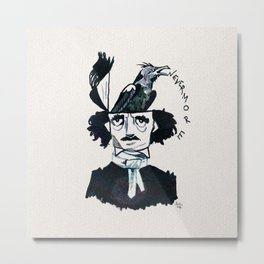 Edgar Poe - Nevermore Metal Print