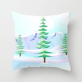 """""""Tree Trio"""" Throw Pillow"""
