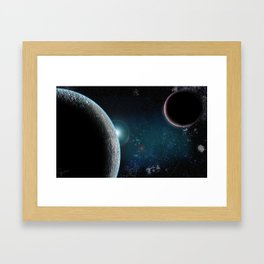 Planet X2 Framed Art Print