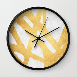 Modern pattern with gold I Wall Clock