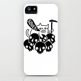 Cats souls Dead Halloween Satan funny gifts iPhone Case
