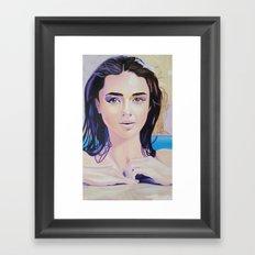 Re-Created Girl in Pool by Robert S. Lee Framed Art Print