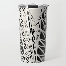 Snake Plant Black White Print Travel Mug