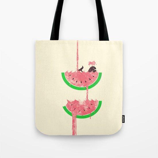 watermelon falls Tote Bag