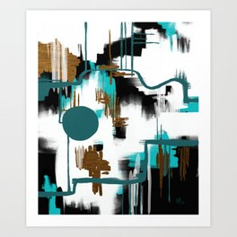 Deco Night Art Print