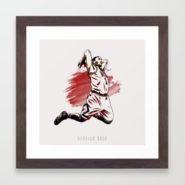 Derrick Rose Framed Art Print