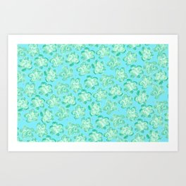 Wallflower - Tea Teal Art Print