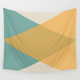 Mid Century - Yellow and Blue Wall Tapestry