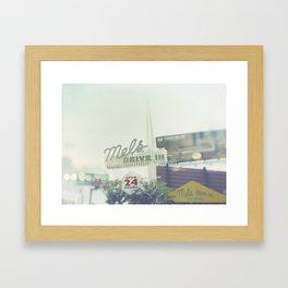 Diner Sunset Blvd Los Angeles California Framed Art Print