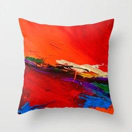 RED SENSATIONS Throw Pillow