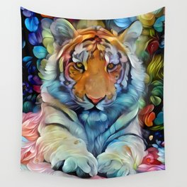 Painted Tiger Wall Tapestry