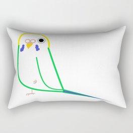 A Simple Parakeet Rectangular Pillow