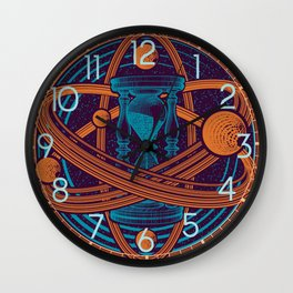 Time Infinity Planet System With Cosmos Sandglass Wall Clock