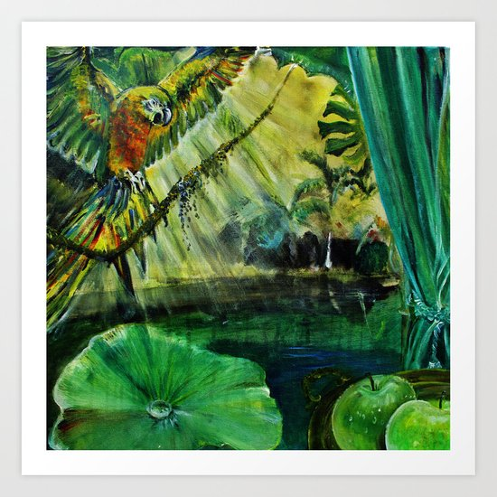 ALL ABOUT GREEN Art Print