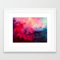 water colour Framed Art Prints featuring Reassurance by Caleb Troy