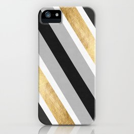 Gray and gold composition IV iPhone Case