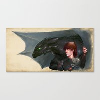 how to train your dragon Canvas Prints featuring How to Train Your Dragon by James Bousema
