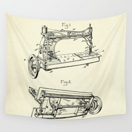 Sewing Machine-1885 Wall Tapestry