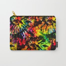 Vivid Psychedelic Hippy Tie Dye Carry-All Pouch