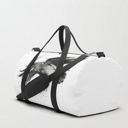 Raven Watercolor Duffle Bag