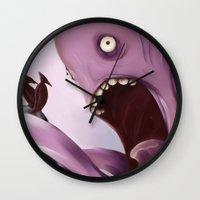 kraken Wall Clocks featuring Kraken by Jacques Marcotte