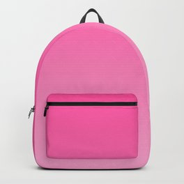 Bright pink neon gradient, Ombre. Backpack