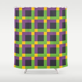 Overlapping Squares II Shower Curtain