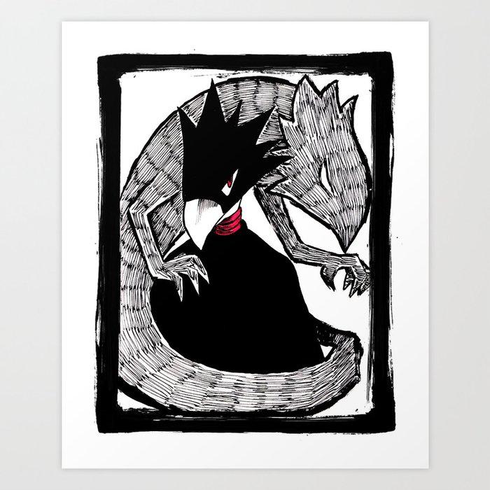 Fumikage Tokoyami Art Print By Maoumao