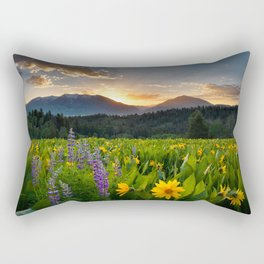 Wildflower Sunrise Rectangular Pillow