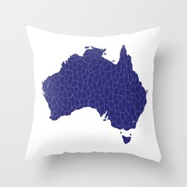 Australia Map Mosaic Throw Pillow