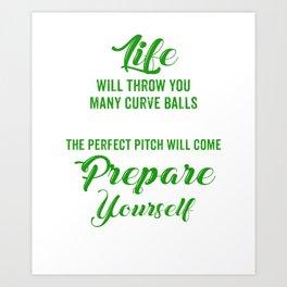 Great T-Shirt For Softball Lover. Art Print