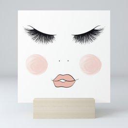 Lashes And Lips Mini Art Print