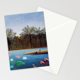 The Flamingos by Henry Rousseau Stationery Cards