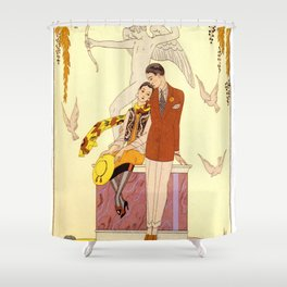 George Barbier - Automne (art deco print) Shower Curtain