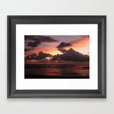 puerto vallarta sunset Framed Art Print