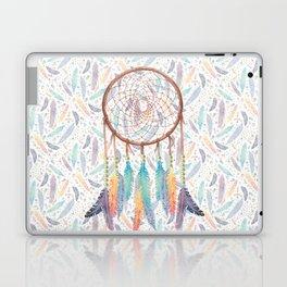 Gypsy Dreams Dreamcatcher on White Laptop & iPad Skin