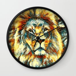 AnimalArt_Lion_20171004_by_JAMColorsSpecial Wall Clock