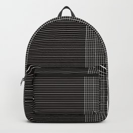 Back to School- Simple Grid Pattern - Black & White - Mix & Match with Simplicity of Life Backpack
