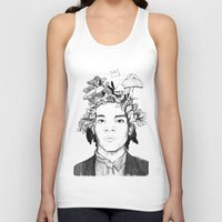 basquiat Tank Tops featuring Basquiat by offthefaceoftheearth