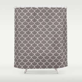 Warm Gray Scales Shower Curtain