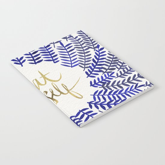 Treat Yo Self – Gold & Navy Notebook