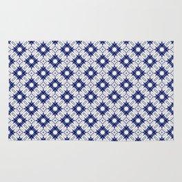 Watercolor Shibori Blue Rug