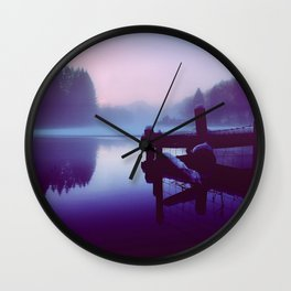 Reflections Of Winter Wall Clock