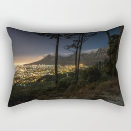 Cape Town city and Table Mountain at night Rectangular Pillow