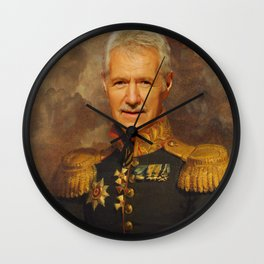 Alex Trebek, Jeopardy, Classical Painting as General, Regal art Wall Clock