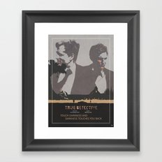 Poster True Detective 2 Framed Art Print