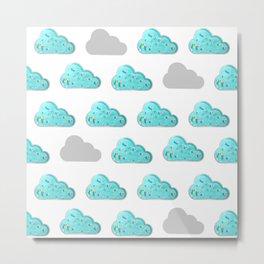 Swimming pool cloud pattern Metal Print