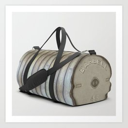 """Do you even lift bro?"" Olympic Dumbbell Weights Athletic Sports Gym Bag Designed by duffletrouble Art Print"