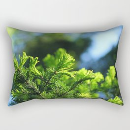 Pine branch background Rectangular Pillow